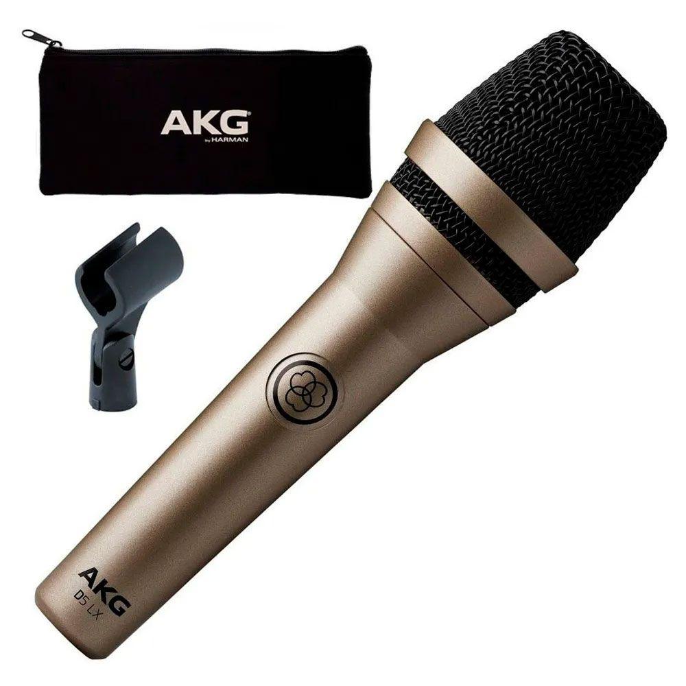 Microfone AKG Dinamico D5Lx Supercardióide XLR  - MegaLojaSP