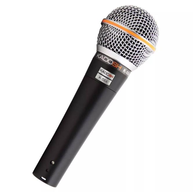 Microfone Dinâmico Profissional Kadosh K58a  - MegaLojaSP