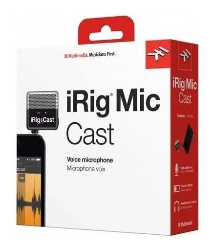 Microfone Ik Multimedia Irig Mic Cast Voice  - MegaLojaSP