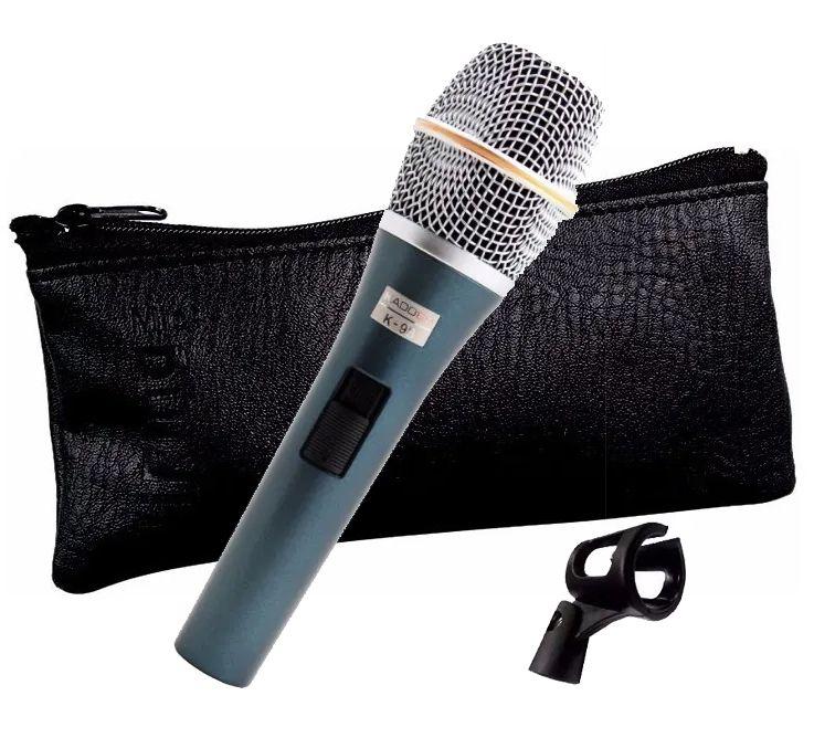 Microfone Kadosh Dinâmico + Bag Couro + Cachimbo K98  - MegaLojaSP