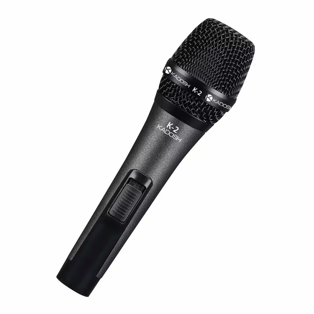Microfone Kadosh Dinâmico Com Fio K2 De Mão Com Cachimbo  - MegaLojaSP