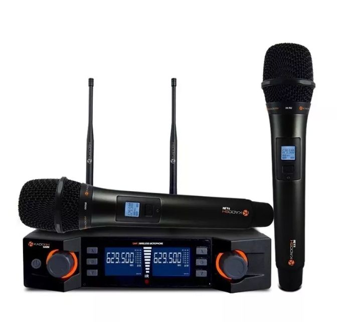 Microfone Kadosh Duplo Sem Fio K492M Uhf Digital  - MegaLojaSP