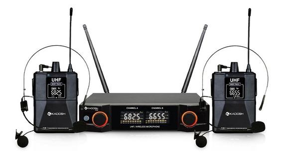 Microfone Kadosh K402HH Headset Duplo Sem Fio  - MegaLojaSP