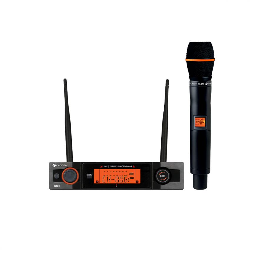 Microfone Kadosh K481M Sem Fio de Mão Dinamico Cardioide  - MegaLojaSP