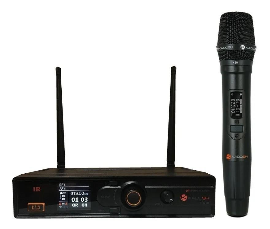 Microfone Kadosh Sem Fio De Mão K501M KDSW UHF  - MegaLojaSP