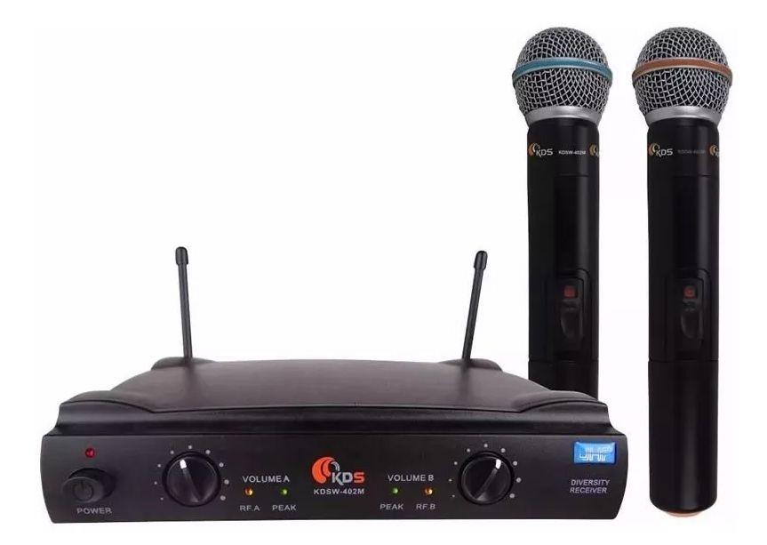 Microfone Kadosh Sem Fio Duplo Uhf Profissional K402m  - MegaLojaSP