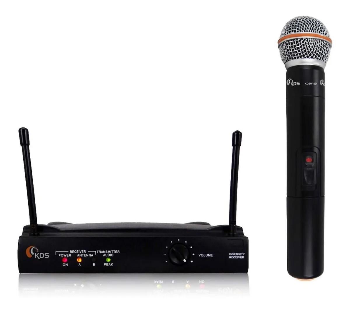 Microfone Kadosh Vocal Sem Fio Uhf K401M Kdsw  - MegaLojaSP
