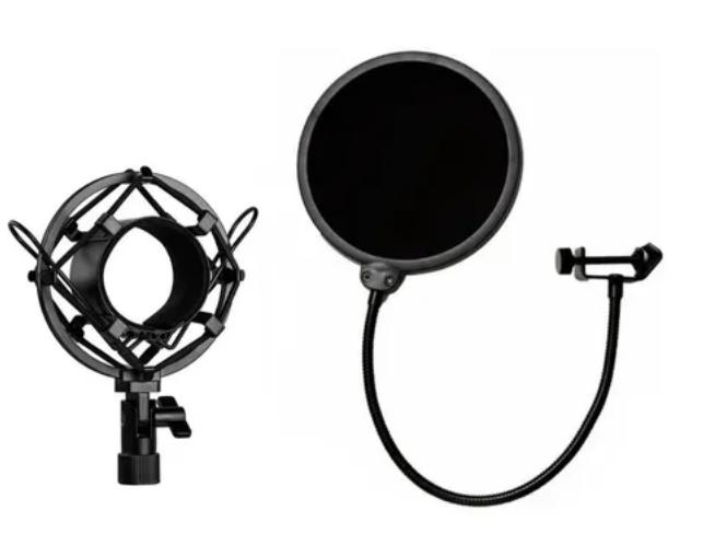 Microfone Ksr Condensador Estúdio Km980 Pro Kit Radio Stream  - MegaLojaSP
