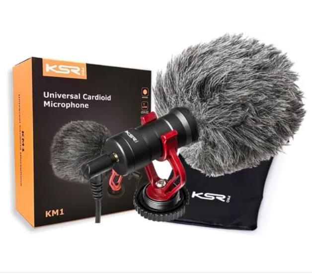 Microfone KSR para Câmera Celular KM1 Kit  - MegaLojaSP