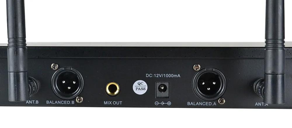 Microfone Leacs de Mão Duplo sem fio UHF LC502  - MegaLojaSP