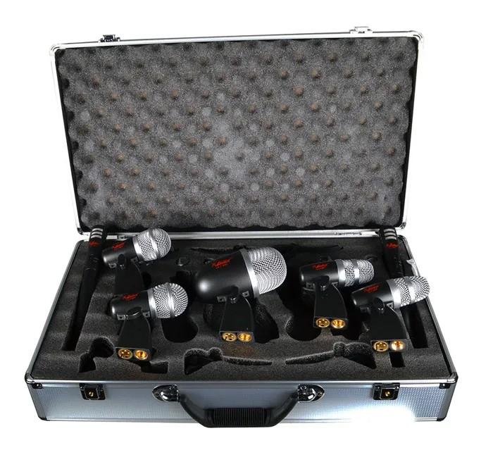 Microfone Leacs Kit para Baterias LC7  - MegaLojaSP
