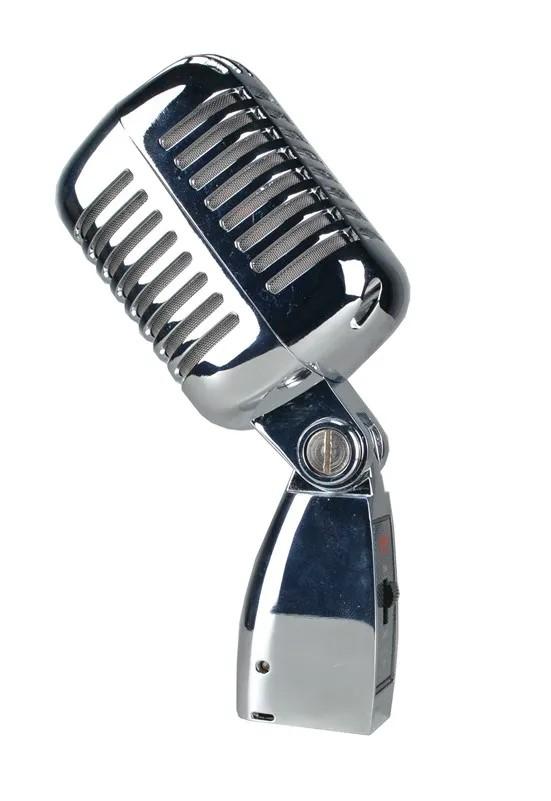Microfone Leacs Retro Clássico de Cromado LC55  - MegaLojaSP