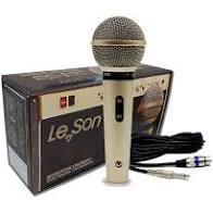Microfone Leson SM58P4 Mão Com fio  - MegaLojaSP