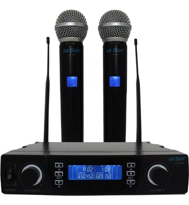 Microfone Lsx002 Digital Dual System  - MegaLojaSP