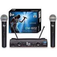 Microfone Sem Fio Dylan DW-602 UHF Duplo  - MegaLojaSP