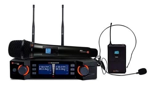 Microfone Kadosh Kadosh sem fio Bastão e Headset K492C  - MegaLojaSP