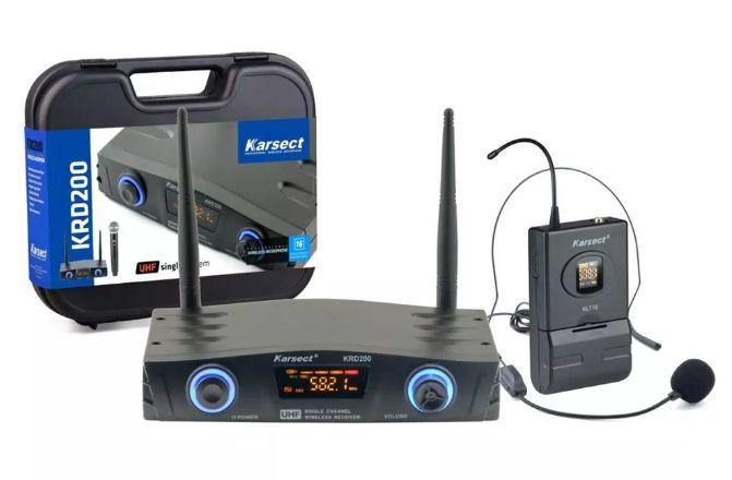 Microfone Sem Fio Karsect Krd200Sh Headset  - MegaLojaSP