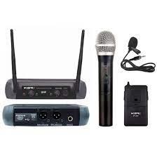Microfone Sem Fio KSR Mão e Lapela UHF  - MegaLojaSP