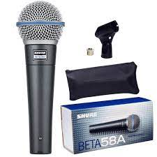 Microfone Shure Beta 58A Supercardioide   - MegaLojaSP