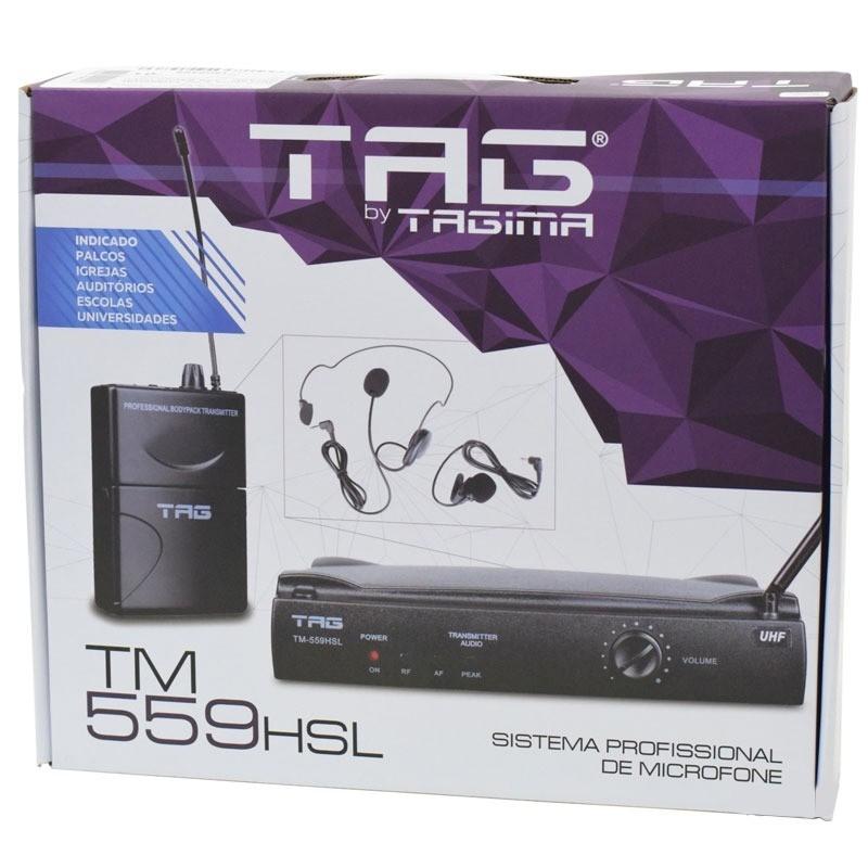 Microfone Tag Sound Tm559hsl Wireless Sem Fio  - MegaLojaSP