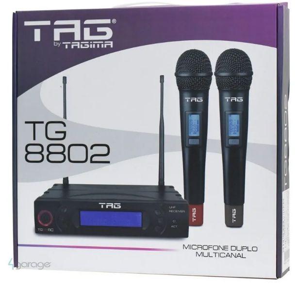 Microfone Tagima TG8802 Duplo de Mão sem fio  - MegaLojaSP