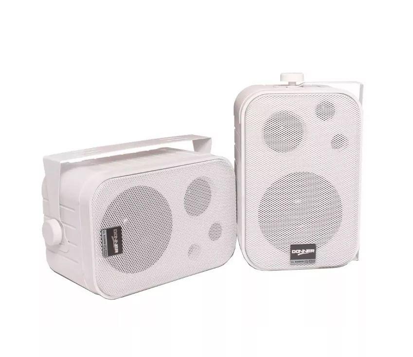 Par Caixas Acústicas Ambiente Donner Sp400 Branca Ll Audio  - MegaLojaSP