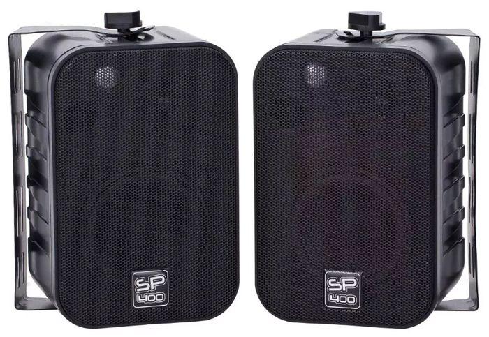 Par Caixas Acústicas Ambiente Donner Sp400 Preta Ll Audio  - MegaLojaSP