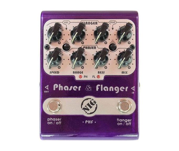 Pedal nig Phaser & Flanger PHF  - MegaLojaSP