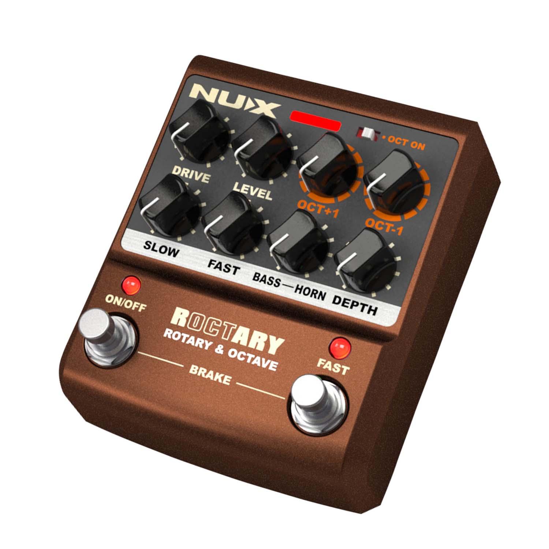 Pedal Nux Roctary  Rotary E Octave guitarra e teclado   - MegaLojaSP