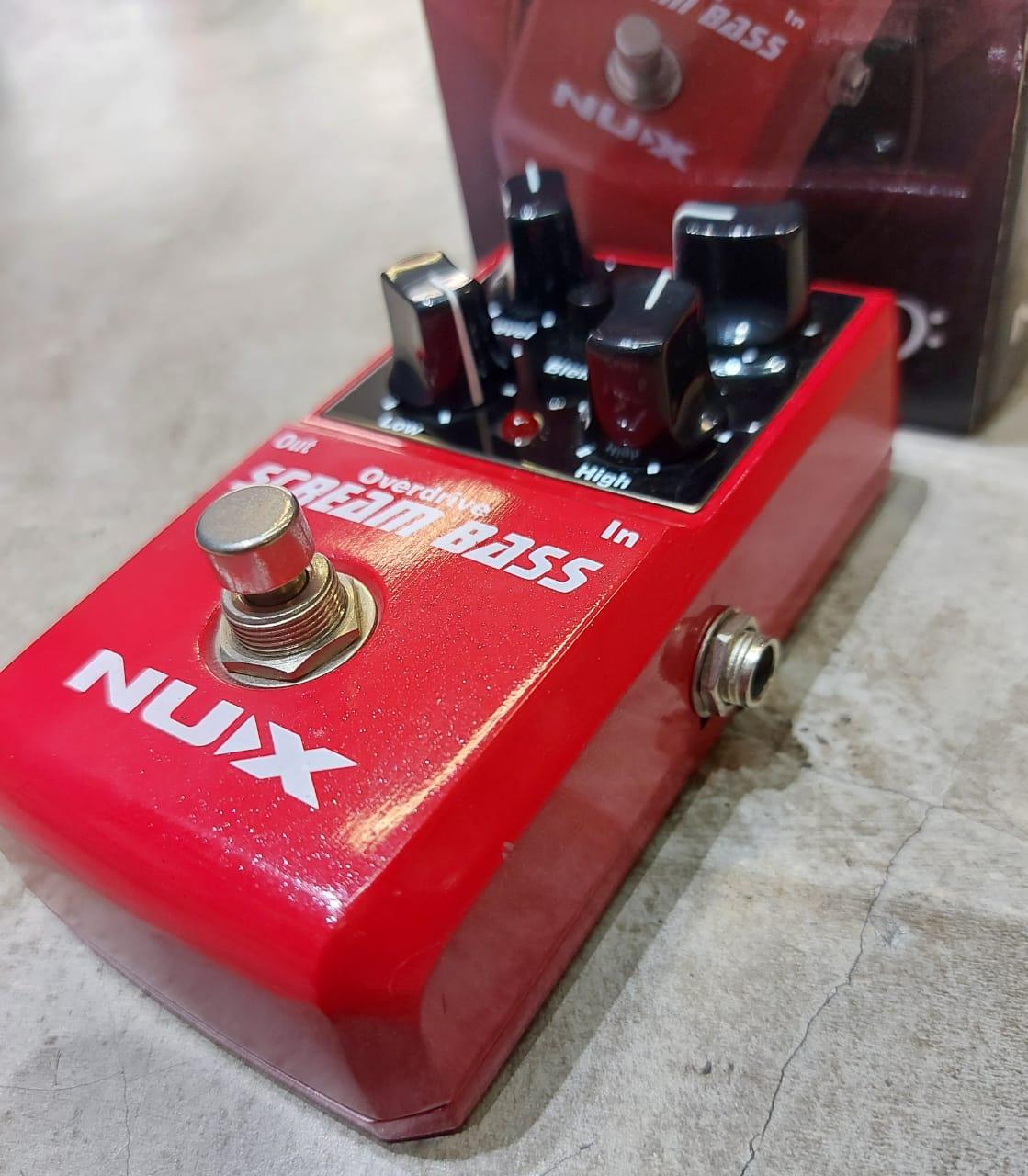 Pedal Nux Scream Bass Overdrive   - MegaLojaSP