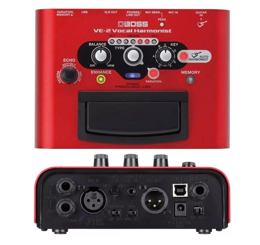 Pedal Processador Voz Boss Ve-2 Vocal Harmonist Roland Ve2  - MegaLojaSP