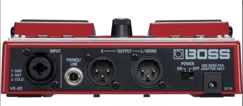 Pedal Processador Voz Vocal Boss Ve-20 Vocal Roland Ve20  - MegaLojaSP