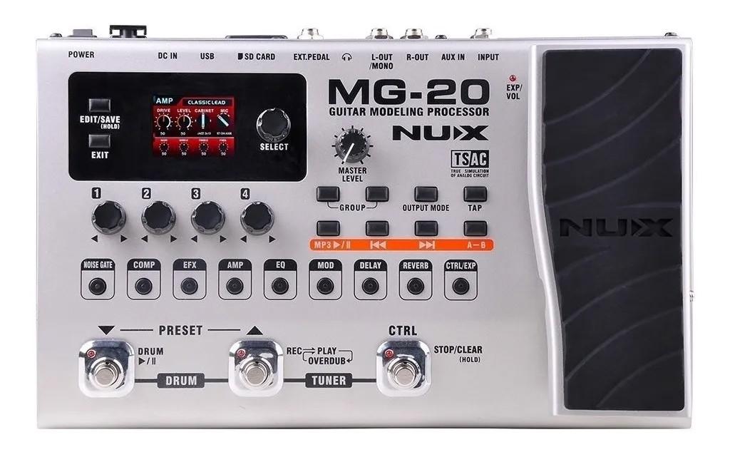 Pedaleira Nux MG20  - MegaLojaSP