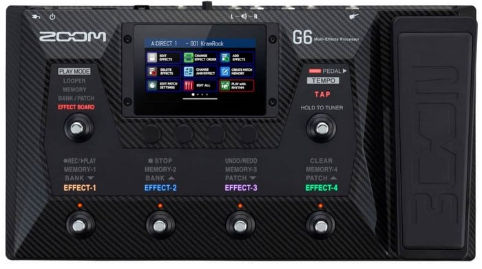 Pedaleira Zoom G6  - MegaLojaSP