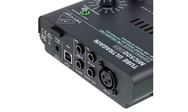 Preamplificador Behringer Mic500 USB Tube Ultragain  - MegaLojaSP
