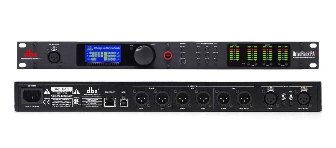 Processador de Áudio Digital DBX PA2 Driverack 110v  - MegaLojaSP
