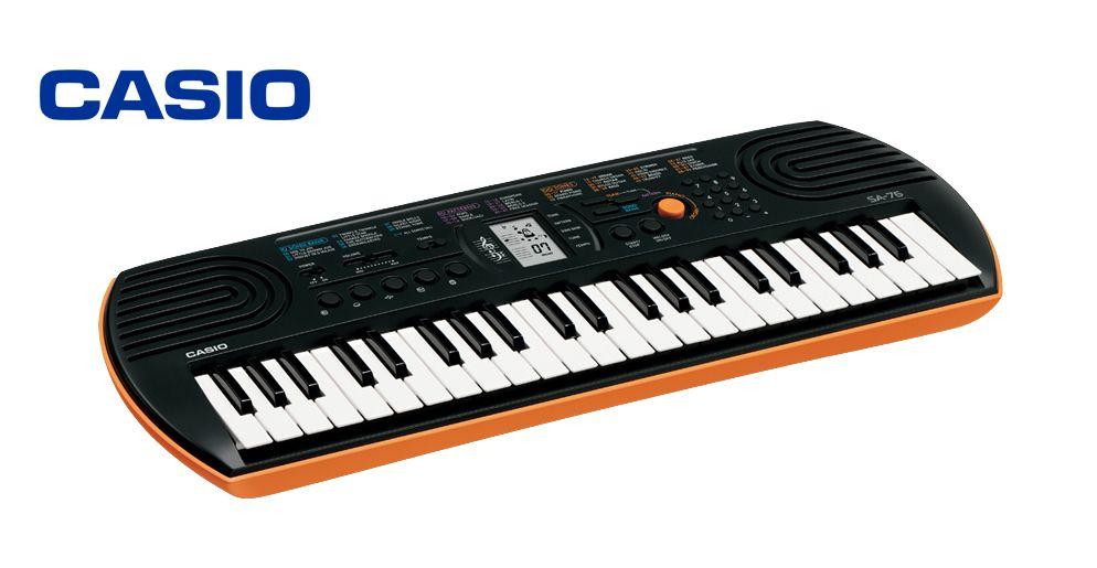 Teclado Casio Musical Digital Infantil Laranja SA76AH2  - MegaLojaSP