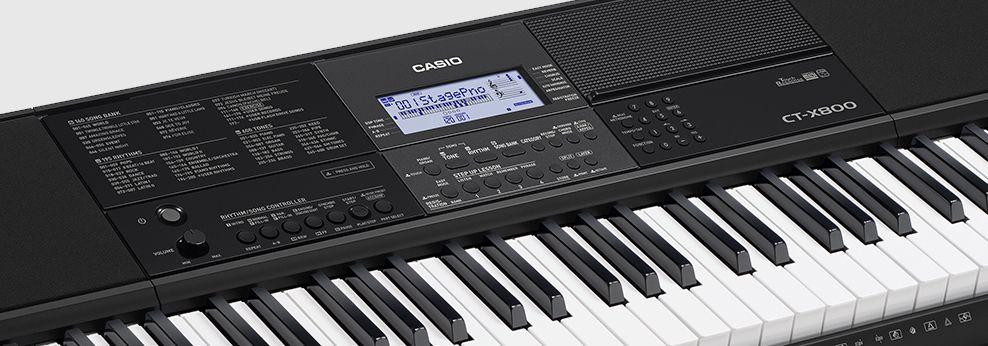 Teclado Casio Musical Digital Intermediário Preto CTX800  - MegaLojaSP