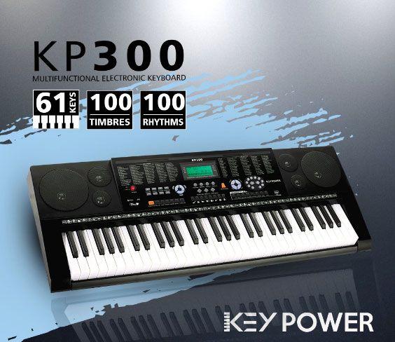 Teclado Kadosh Key Power 61 Teclas 100 Timbres e Ritmos KP300  - MegaLojaSP