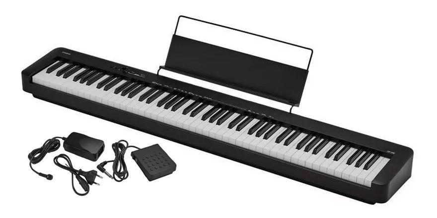 Teclado Piano Casio Digital CDPS100  Pedal e Fonte  - MegaLojaSP