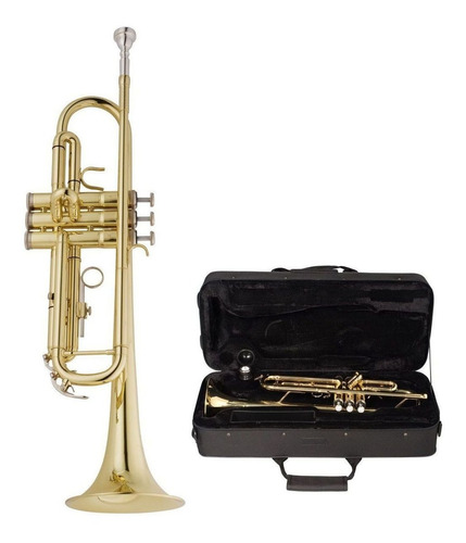 Trompete Vogga VSTR701N Bb Niquelado C/Case  - MegaLojaSP