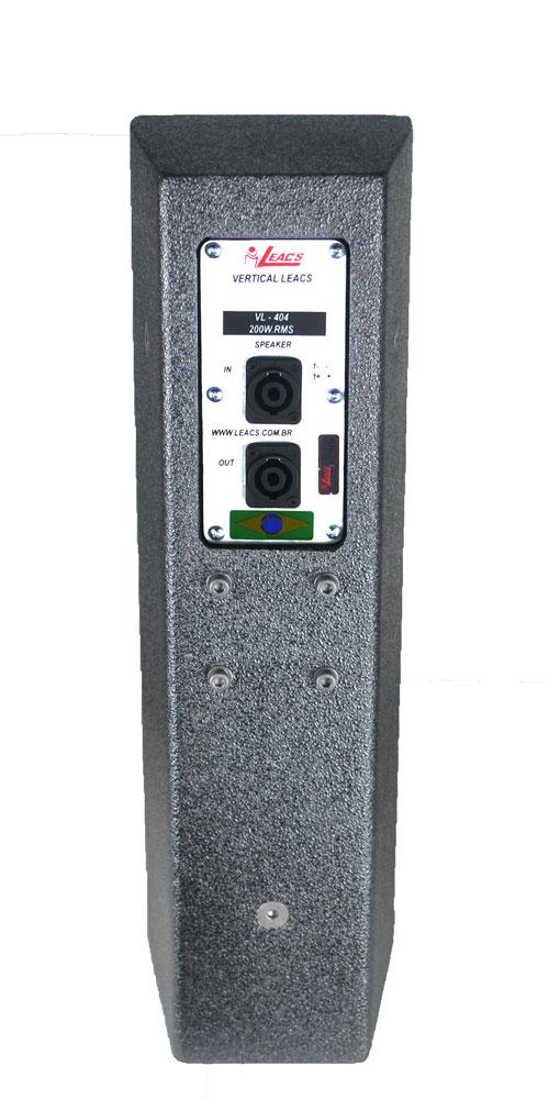 Vertical Line Leacs VL404 Preto - 200w RMS  - MegaLojaSP