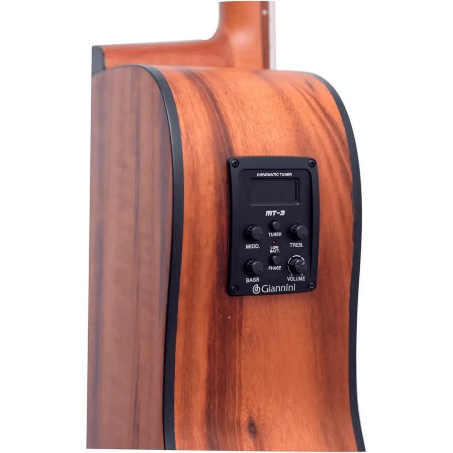 Violão Giannini Folk Eletrico Cutaway Aço FK2 GOAL CEQ NS  - MegaLojaSP