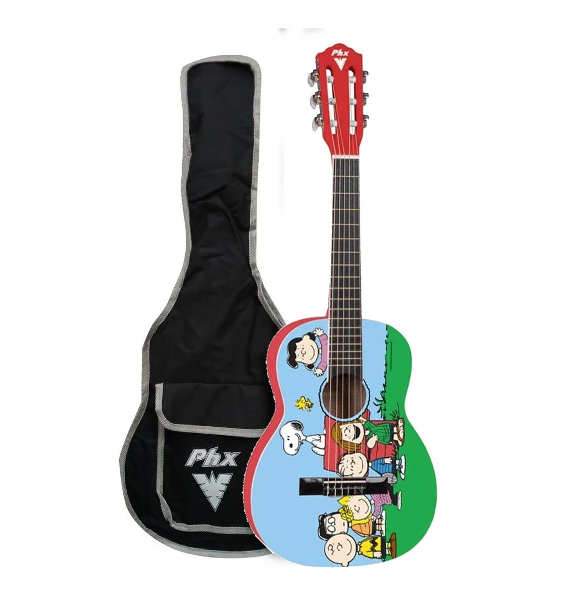 Violão Infantil PHX Acústico Snoopy VISA1  - MegaLojaSP