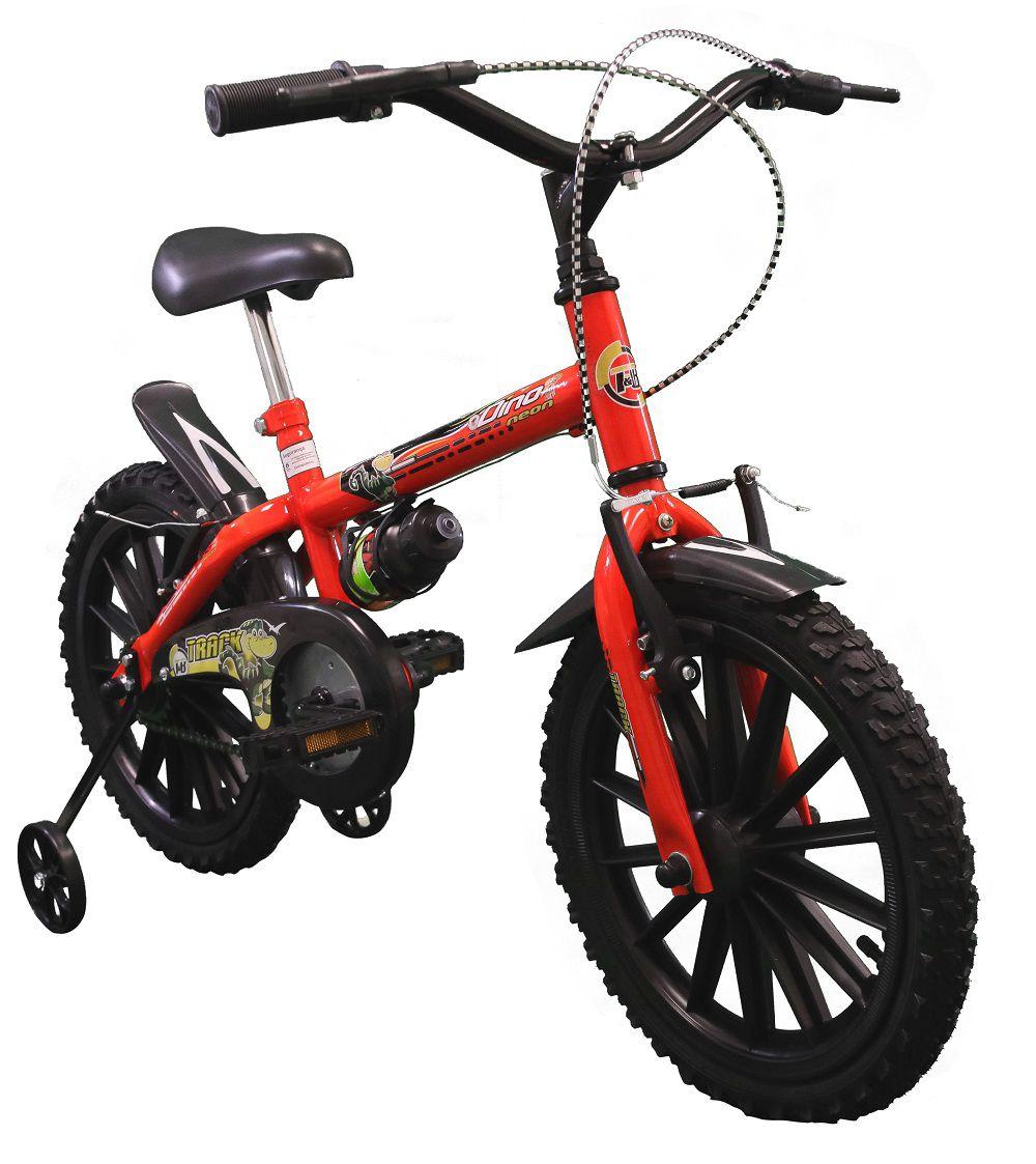 Bicicleta TK3 Track Dino Neon Infantil Aro 16