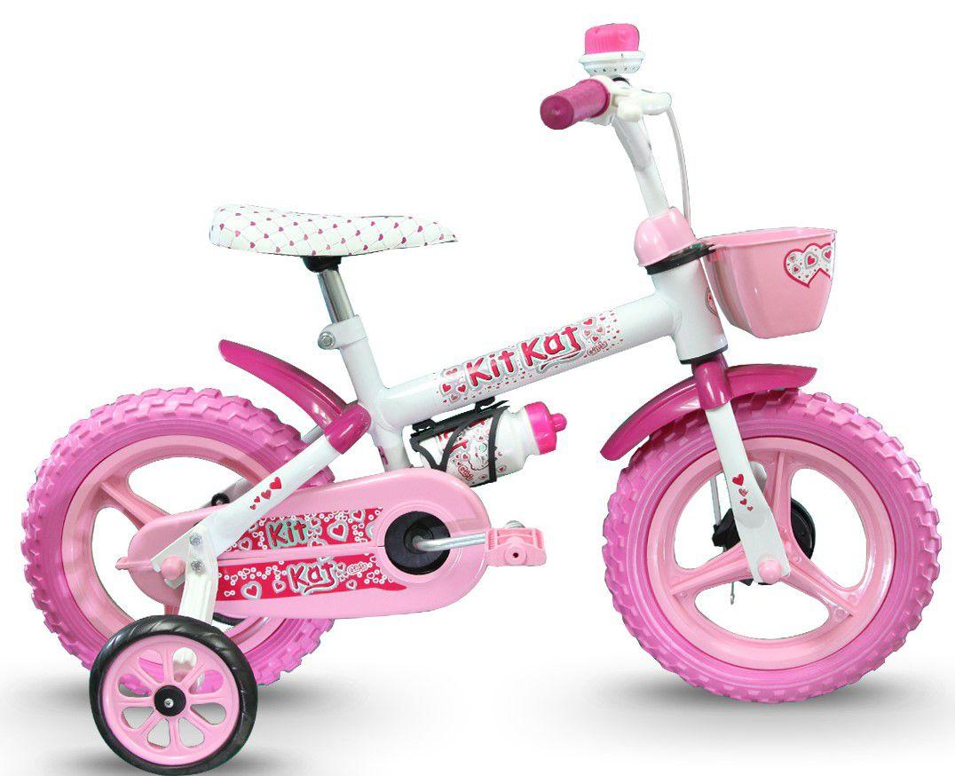 Bicicleta TK3 Track Kit Kat Infantil Aro 12 com capacete