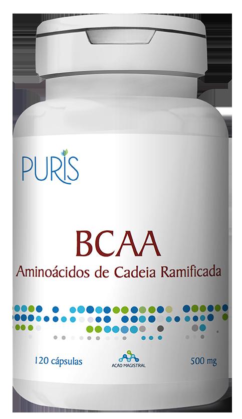 BCAA 500mg 120 Cápsulas - PURIS