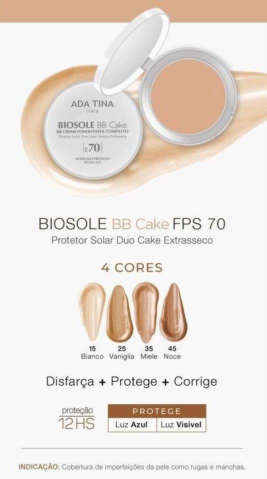 Biosole BB Cake FPS70  - Cor Vaniglia