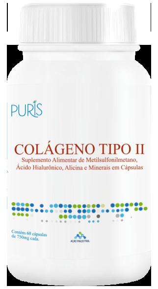 Colágeno Tipo II com 60 cap - PURIS