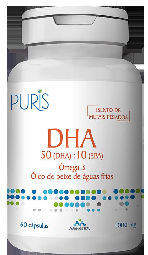 DHA Óleo de Peixe 60 Cápsulas - PURIS